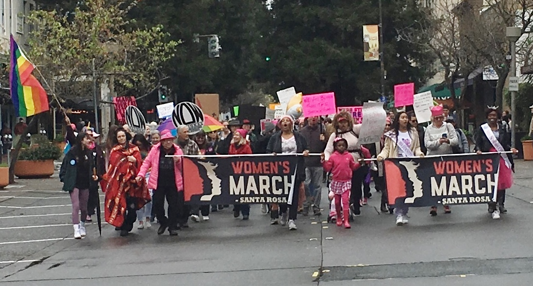 Santa Rosa Women's March and Rally, January 19, 2019